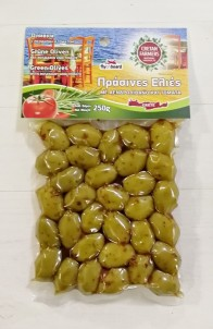 Olivy zelené s rozmarýnem a rajčaty 250gr