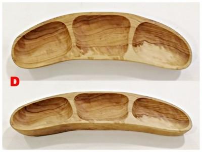 Miska na oříšky z olivového dřeva 3 misky