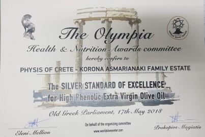 Olivový olej KORONA stříbrná medaile