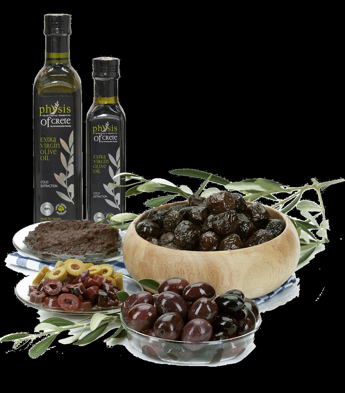 Řecké olivové oleje a delikatesy z Kréty